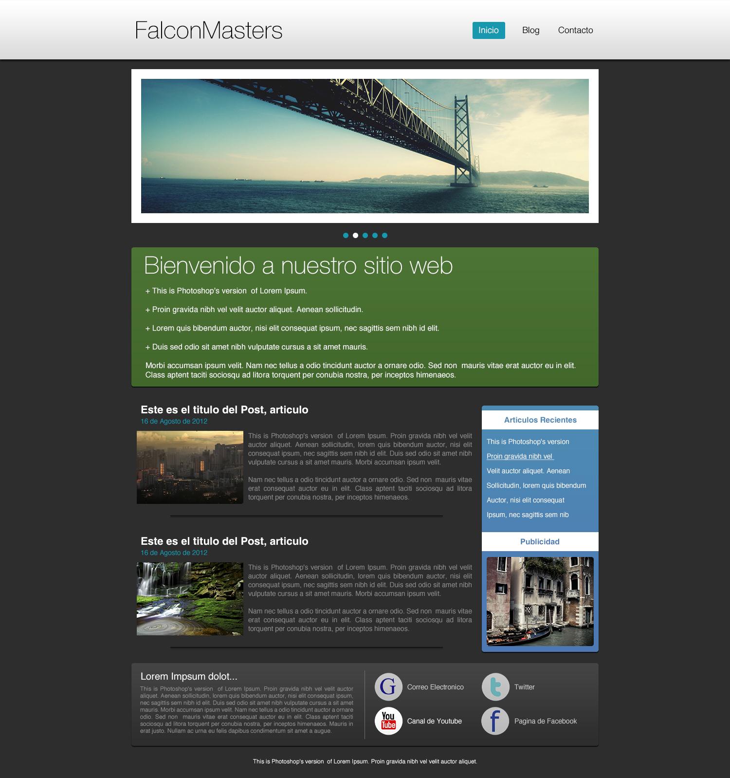 Curso de Diseño Web - 4. Diseño del Footer