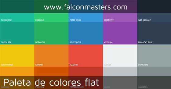 Paleta de colores flat para user interface falconmasters - Paleta de colores titanlux ...