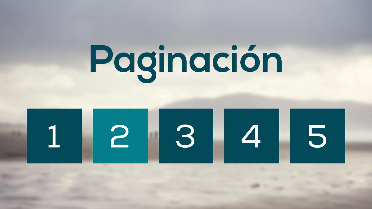 Como hacer una barra de paginación (Estatica) con HTML y CSS