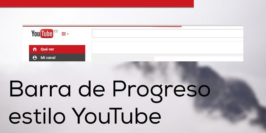 Como hacer una barra de progreso estilo YouTube con Pace