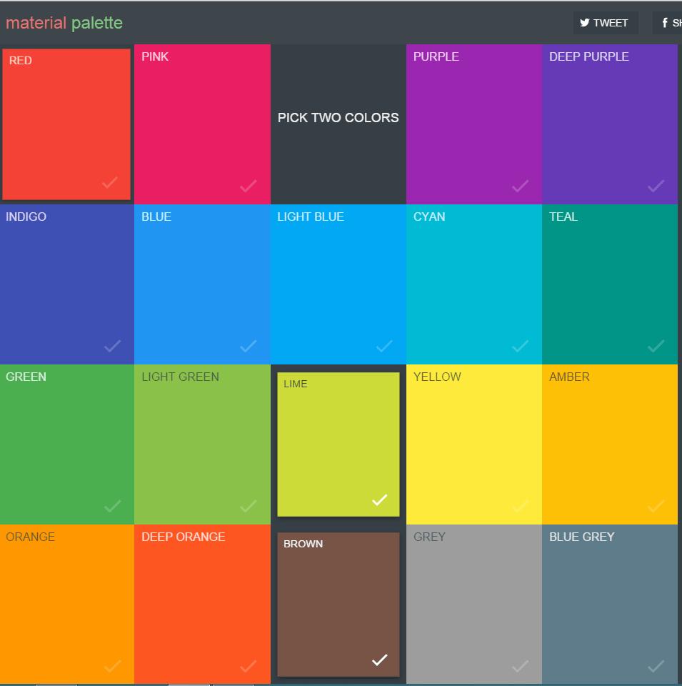 Material palette colores basados en google material design for De colores de colores