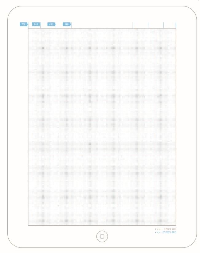 Boceto / plantilla de ipad