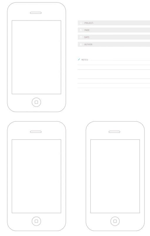 Bocetos / Plantillas de iphone sneakpeekit