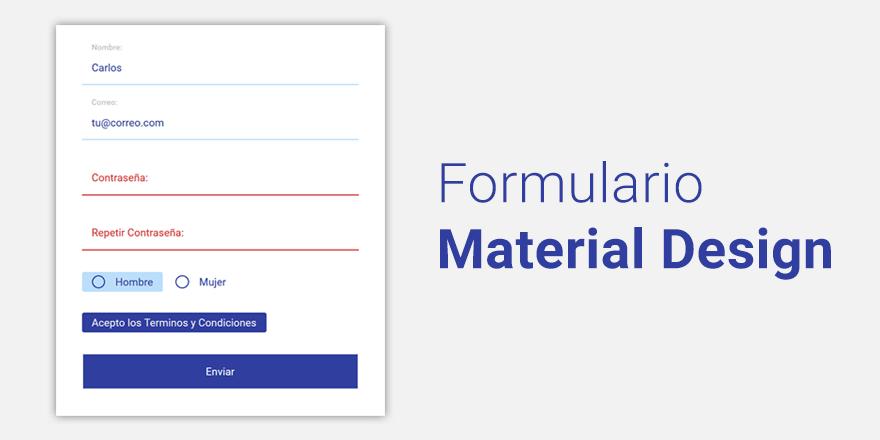 Como hacer un formulario estilo Material Design