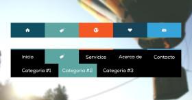 Como hacer un menú de navegación desplegable con Animaciones CSS3
