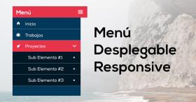 Como hacer un menú desplegable y adaptable a dispositivos móviles (Responsive Design)